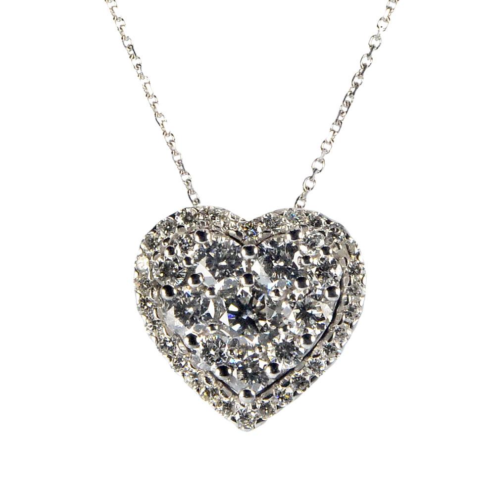 Pendente cuore Diamanti