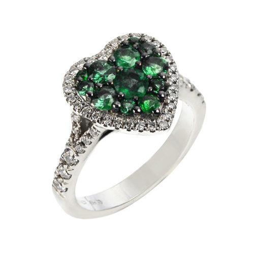 anello-oro-rosa-con-diamanti-e-smeraldi-cuore-collezione-heart