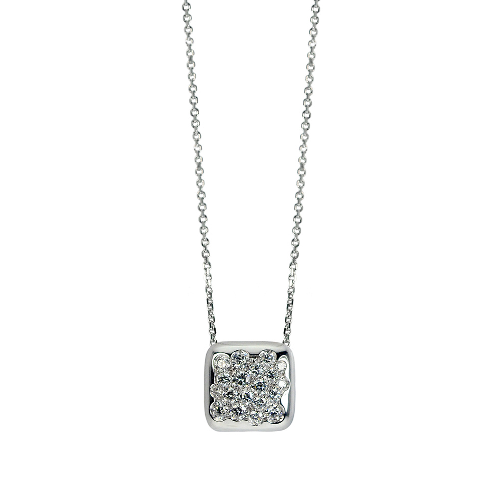 cio biancofe gold en diamonds with quadrato and white product carini square sassolino pendant gioielli necklace